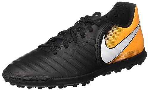 Nike Tiempox Rio IV TF, Scarpe da Calcio Uomo, Nero (Black/White-Laser Orange-Volt), 44.5 EU