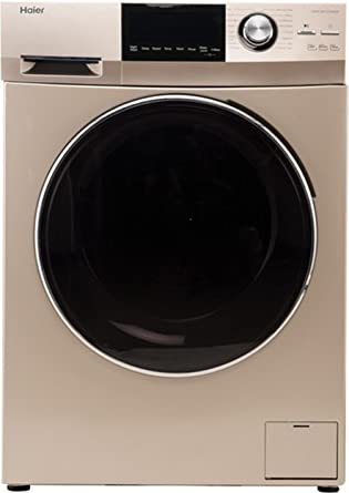Haier 8 kg Fully-Automatic Front Loading Washing Machine (HW80-BD12756NZP, Golden)