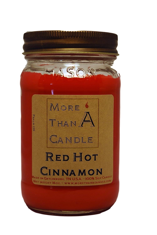 人気商品は More Mason Than A 16 Candle RHC16M 16 oz Mason Jar Hot Soy Candle, Red Hot Cinnamon B079Q9K8Y8, アパレル什器専門店クロムスタイル:3c71224b --- egreensolutions.ca