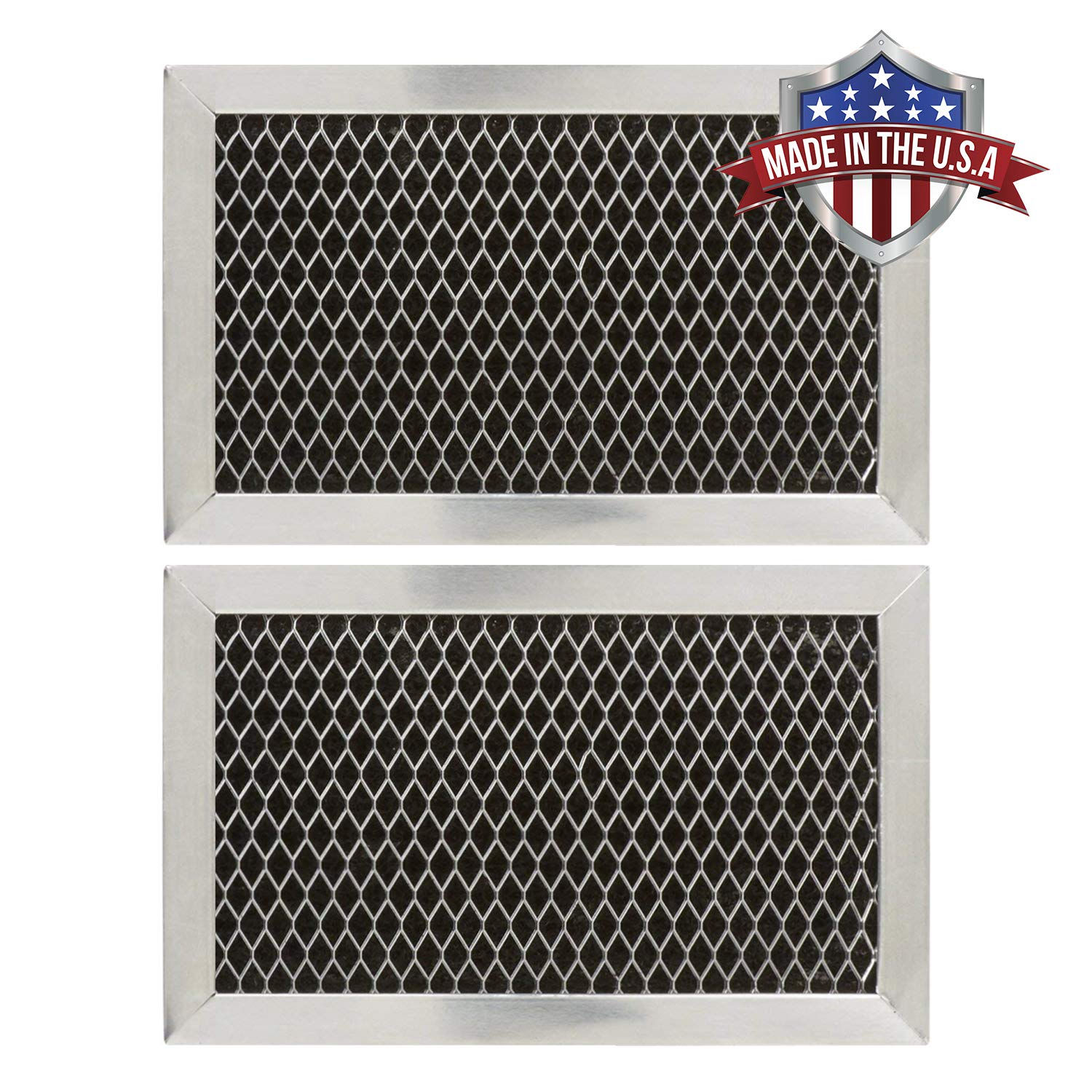 GE JX81J, WB02X11124, WB06X10823 Microwave Recirculating Charcoal Filter (Made in USA) (2-Pack)
