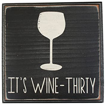 Itu0027s Wine Thirty Vintage Wood Sign For Wall Decor, Wet Bar Wall Decor, Wine