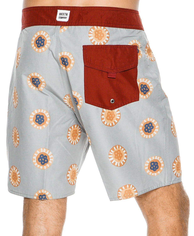 769cf22abfbe Amazon.com: New Brixton Men's Mitchell Boardshort Fitted Grey: Clothing