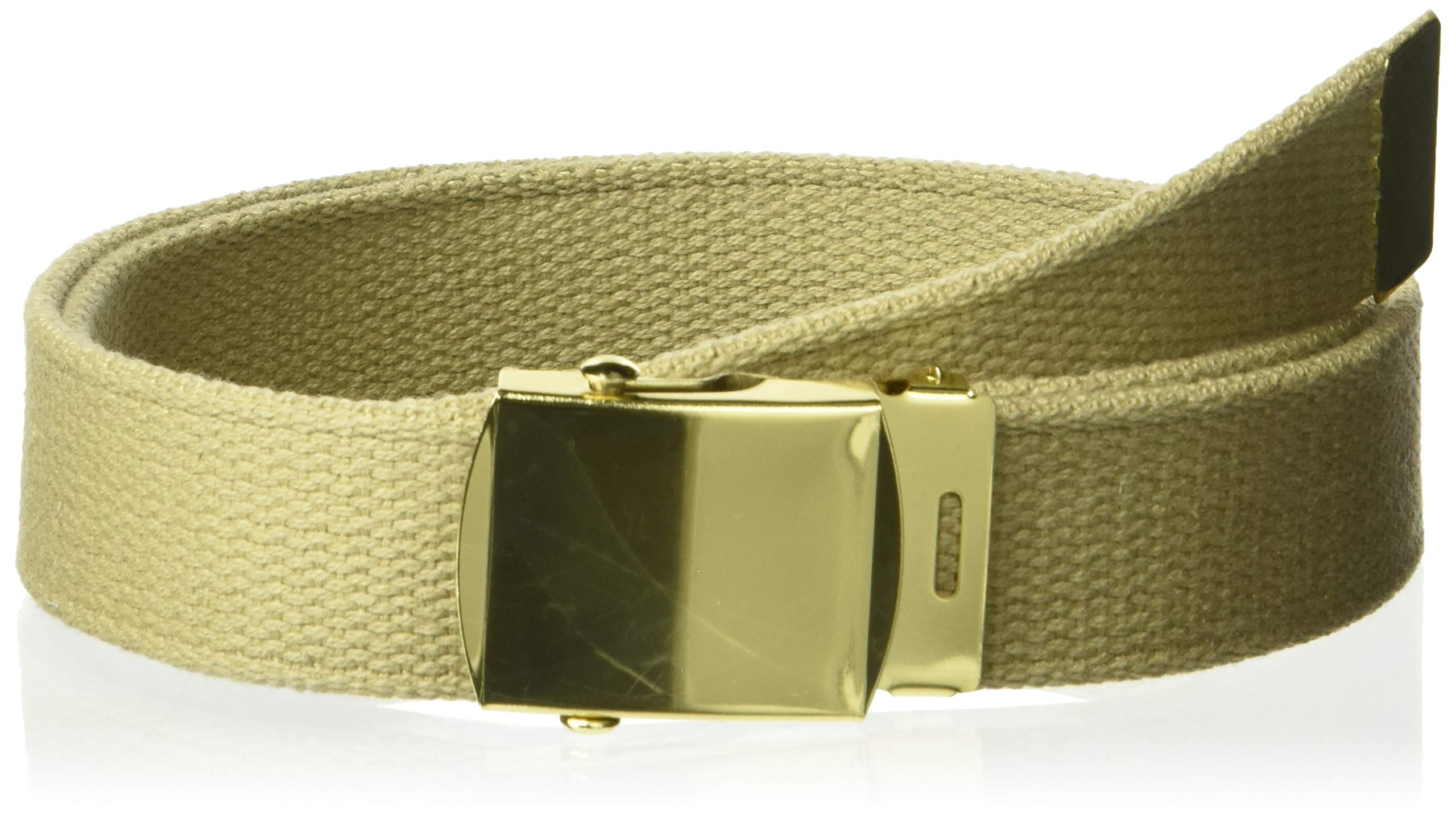 5ive Star Gear Web Belts with Closed Face Buckle, Khaki, 54''