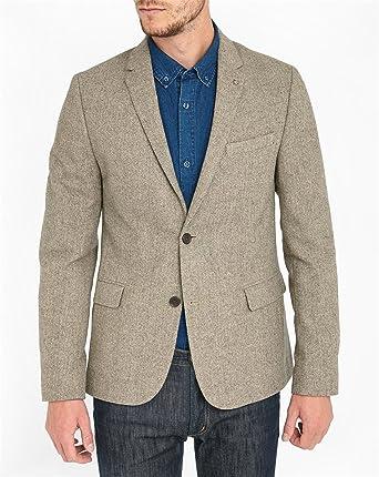 conception de la variété bonne qualité design élégant Ben Sherman - - Homme - Veste 2 Boutons Laine Chevrons Beige ...