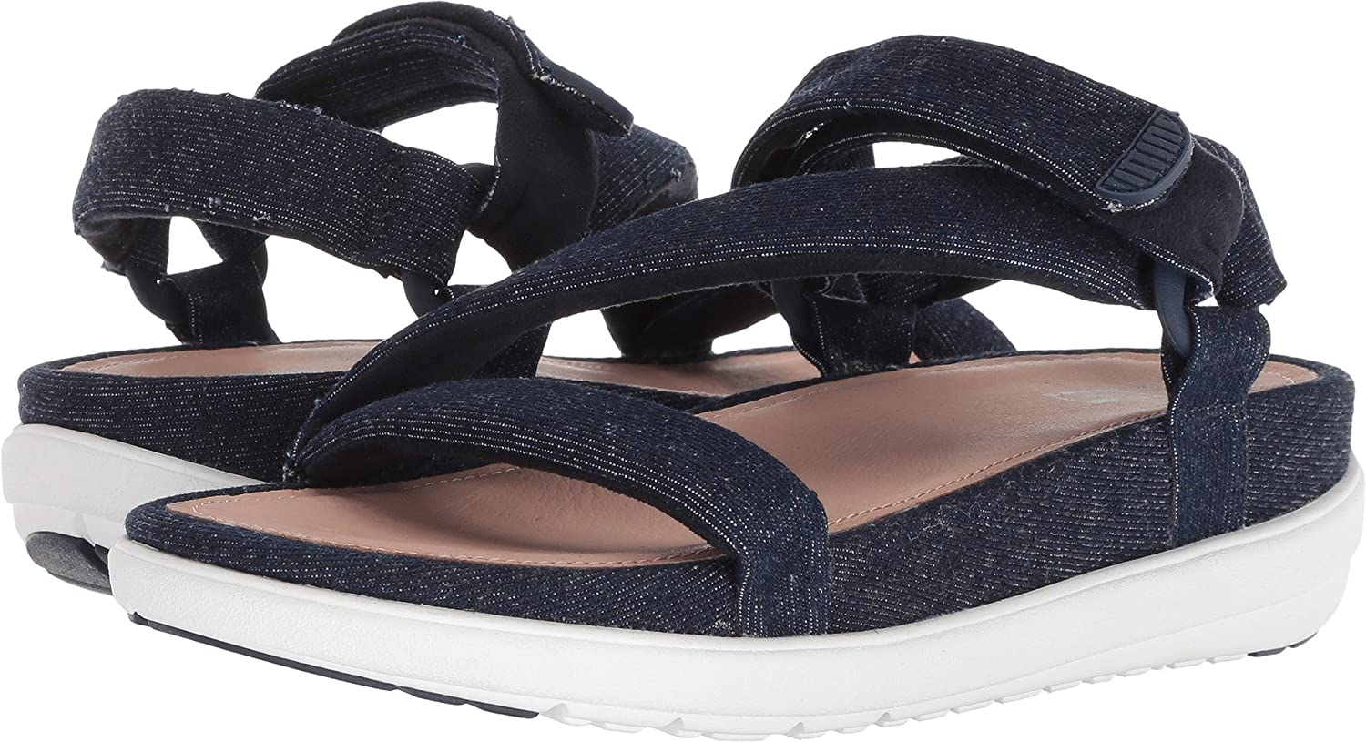 70d1e14d1406f Fitflop Women s Loosh Luxe¿ Z-Strap Denim Sandals Dark Blue Denim 11 M US   Amazon.co.uk  Shoes   Bags
