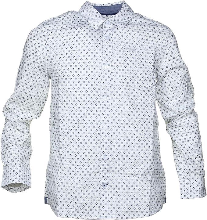 Pepe Jeans -Camisa PB301692 Dayton 800 White -Camisa Manga Larga DE MICRODIBUJO NIÑO: Amazon.es: Ropa y accesorios