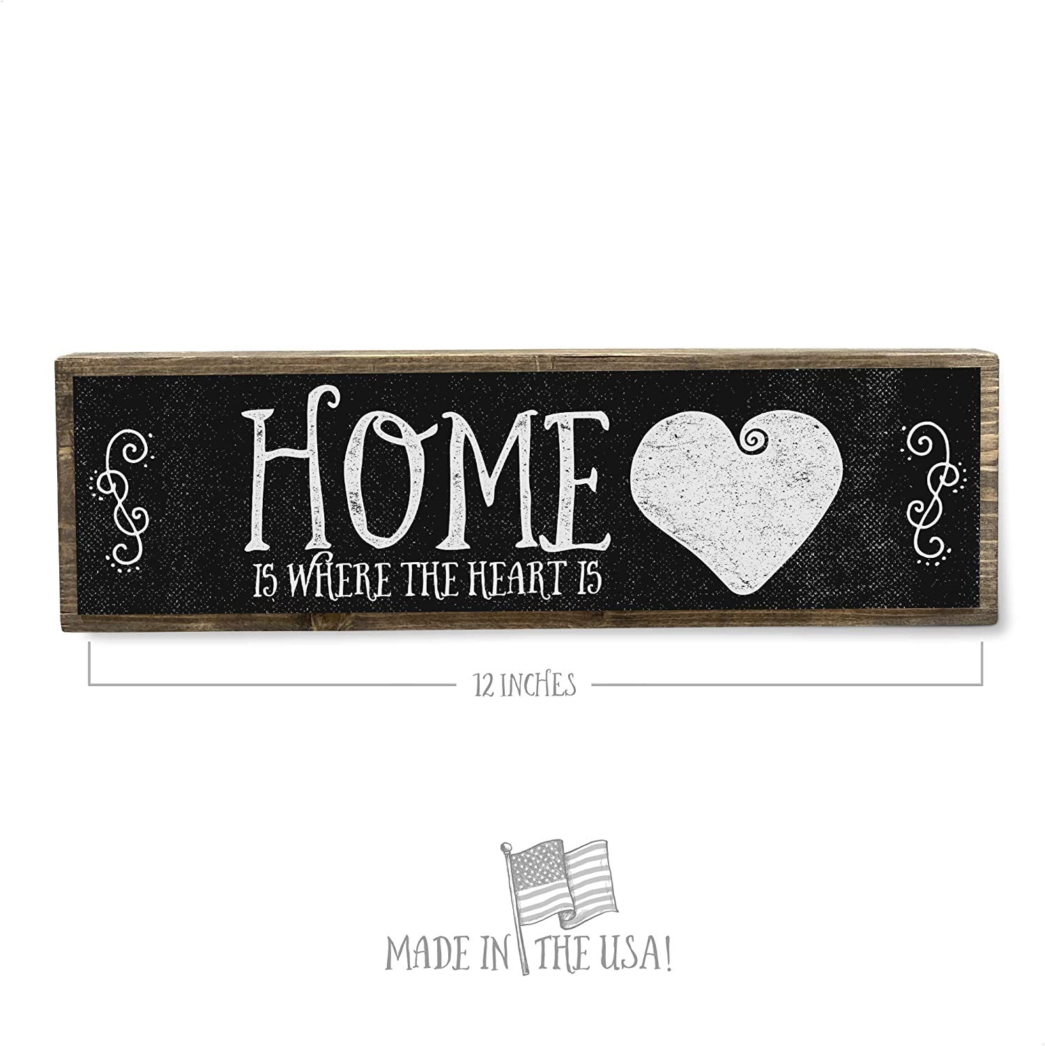 Amazon Com Anvevo Home Is Where The Heart Is Metal Wood Sign Dark Rustic Farmhouse Decor Rustic Wall Art Home Decor Modern Home Decor Home Kitchen,Best Wireless Charging Station For Apple Watch And Iphone