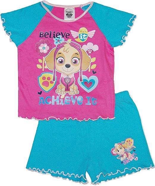 Girls Paw Patrol Short Pyjamas Skye Nick Jr 3 to 7 Years