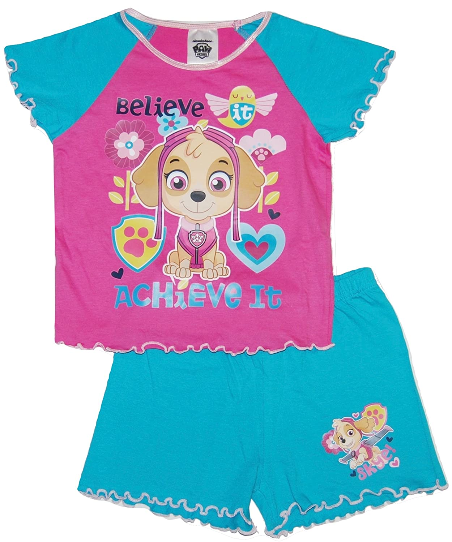 Girls Paw Patrol Short Summer Pyjamas