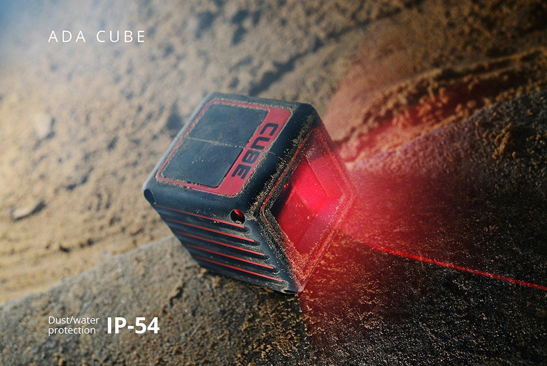 Categor/ía: IP54 L/íneas verticales y horizontales ADA Cube Edici/ón Profesional Nivel l/áser de primera calidad autonivelante con l/íneas cruzadas y revestimiento de goma