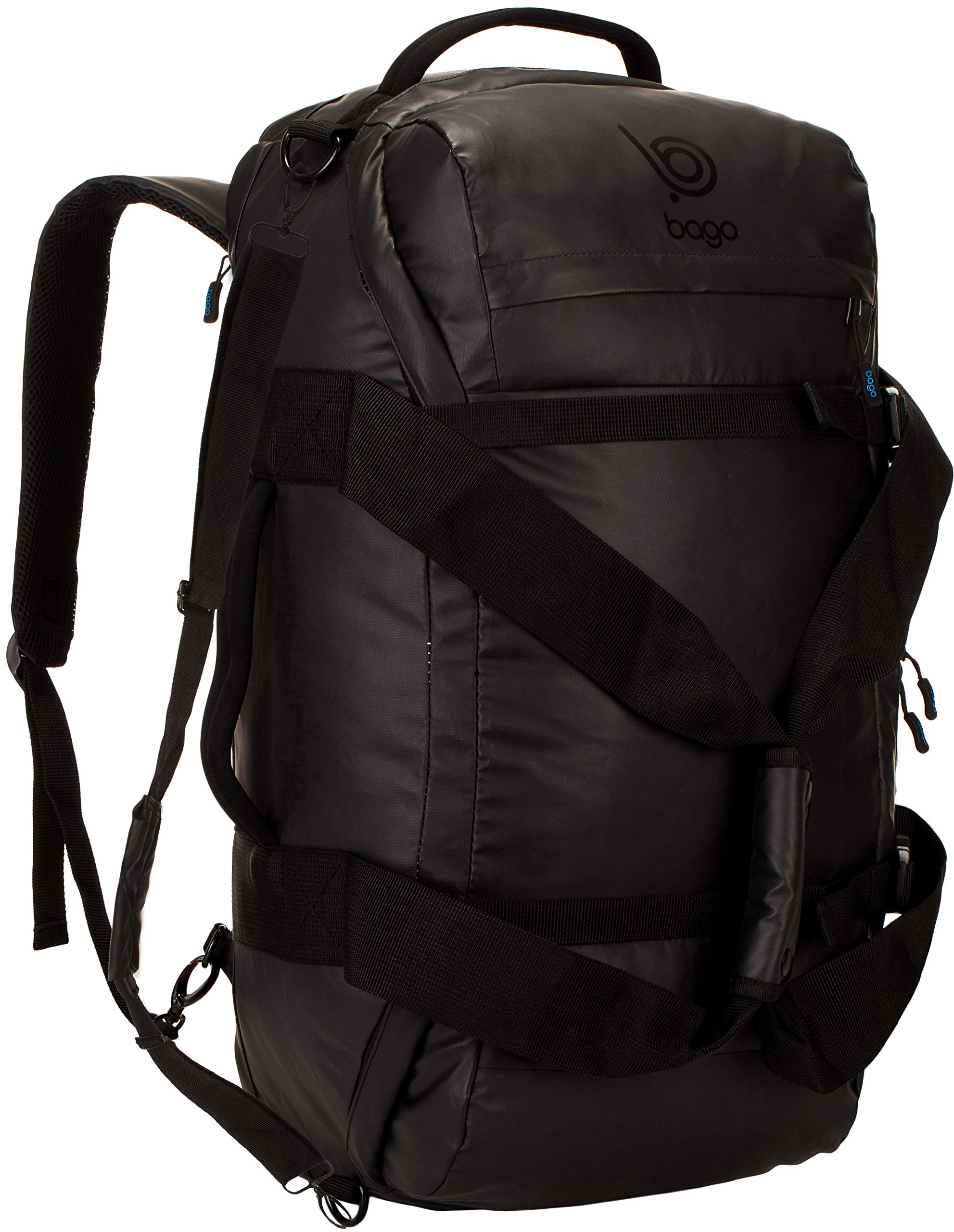 bago Carry on Traveling Backpack Duffle Bag - 3 Way Duffel Backpack for Travel & Sports - Waterproof Heavy Duty Gear Bag for Men & Women (Black) by bago