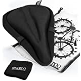 "Bikeroo Most Comfortable Bike Seat Cushion Cover - 11"" x 7"" Premium Quality Exercise Bicycle Saddle Pad With Soft Gel for Women and Men - Great for Indoor Cycling Class and Stationary Bikes"