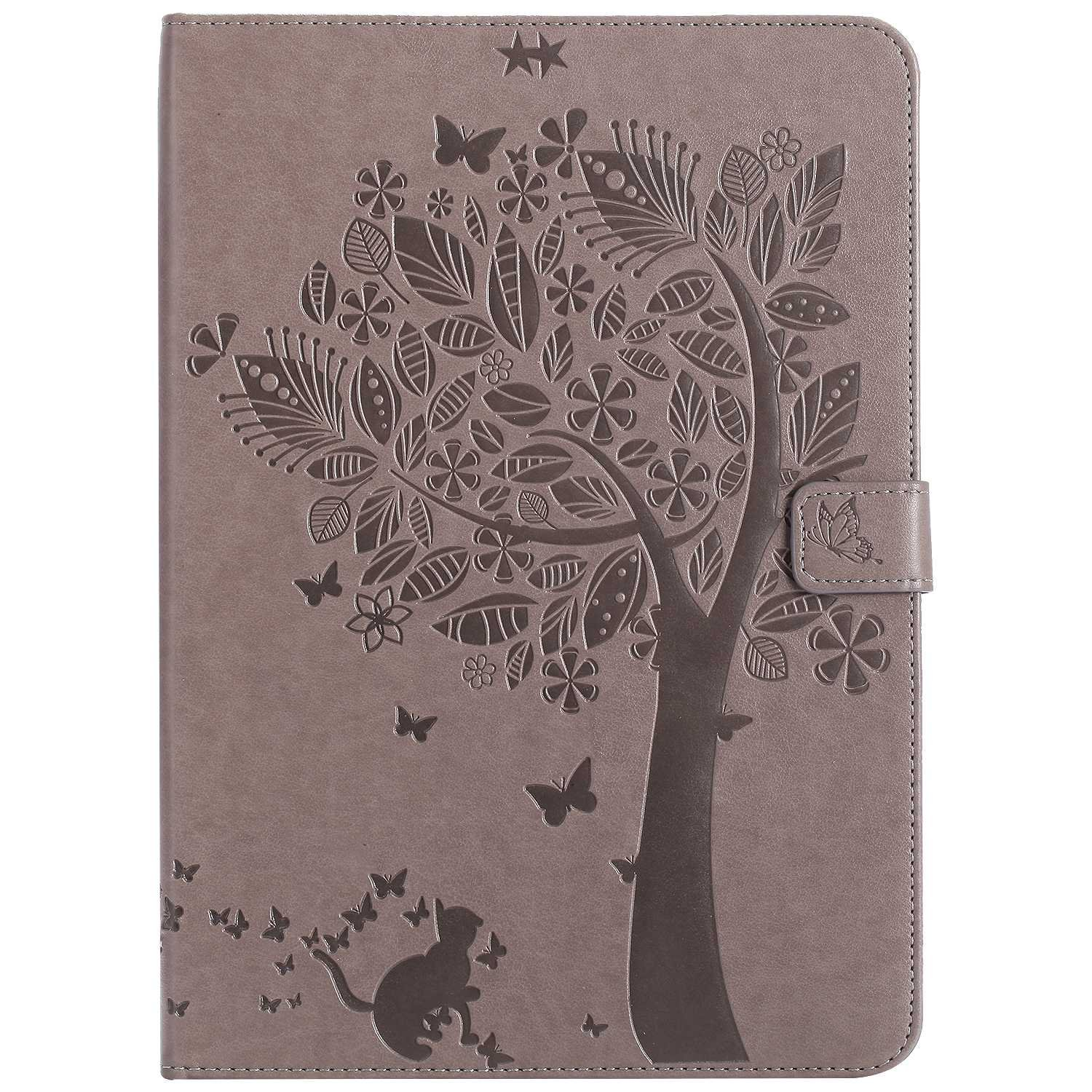 Bear Village iPad Air 2 (9.7 Inch) Case, Leather Magnetic Case, Fullbody Protective Cover with Stand Function for Apple iPad Air 2 (9.7 Inch), Gray by Bear Village