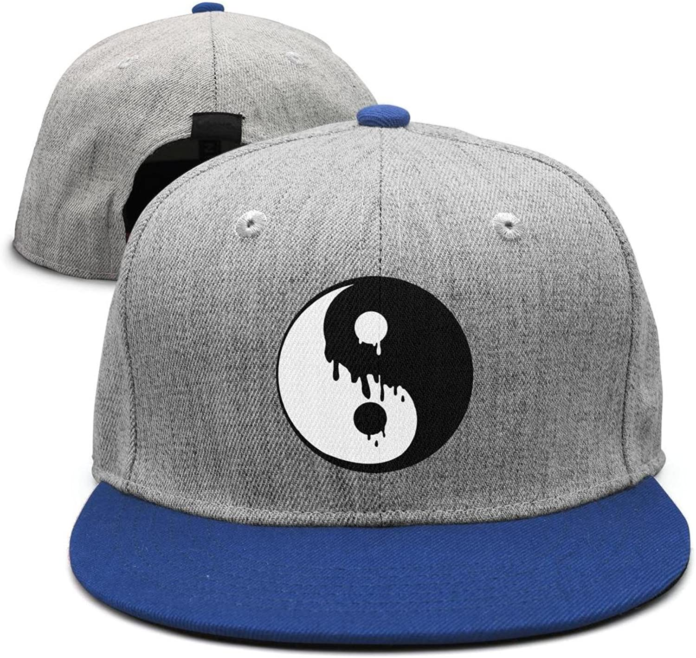 SJSNBZ Alien Yin Yang Printing Womens Mens Adjustable Hip-hop Cap