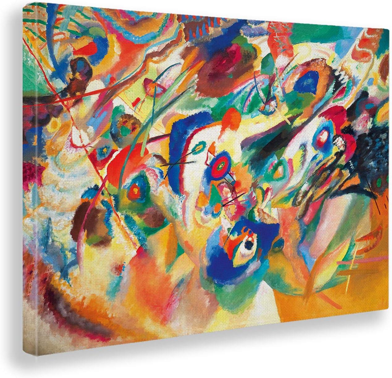 Giallobus - Cuadro - Kandinsky - Borrador 2 para la composición VII - Estampado en Lienzo - Listo para Colgar - Varios tamaños - 100x70 cm
