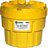 "Enpac 1220-YE Poly-Overpack Salvage Drum, 20 Gallons Spill Capacity, 22-1/2"" Top Diameter x 18"" Bottom Diameter x 19"" Height"