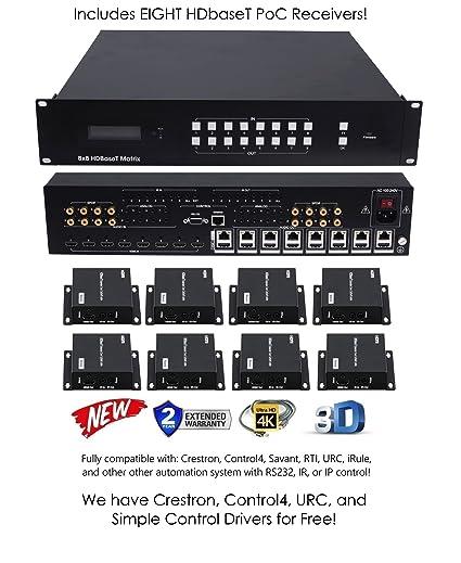 amazon com 8x16 hdbaset 4k matrix switcher 8x8 16x16 with 8 rh amazon com