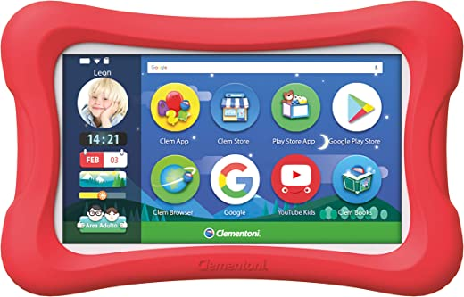 """Clementoni Primo Clempad 9 7"""", Tablet per Bambini, Multicolore, 16616"""