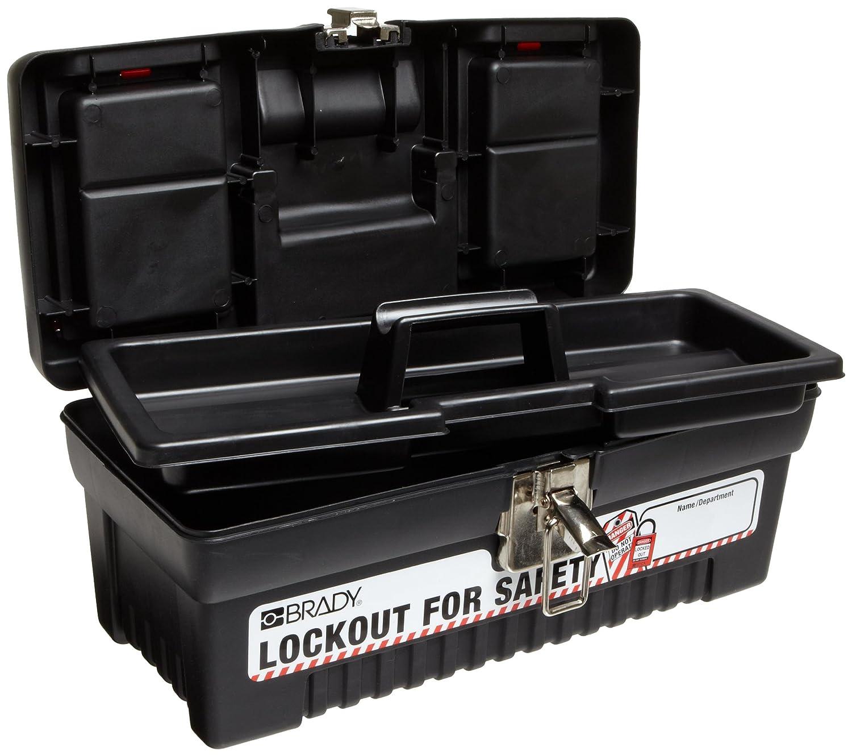 Small 7.1 Height 5.5 Depth 14 Width Legend Lockout For Safety Brady Polypropylene Lockout Toolbox