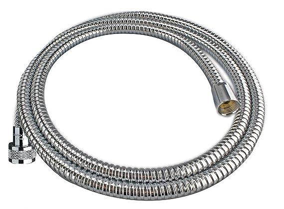 "Cornat Spiral-Brauseschlauch Metall 150 cm chrom 1//2/"" x 1//2/"""
