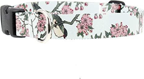 Buttonsmith Hiroshige Cherry Blossom Dog Collar Resistant to Odors /& Mildew Military Grade Rustproof Buckle Fadeproof Permanently Bonded Printing Made in The USA Choice of 5 Sizes