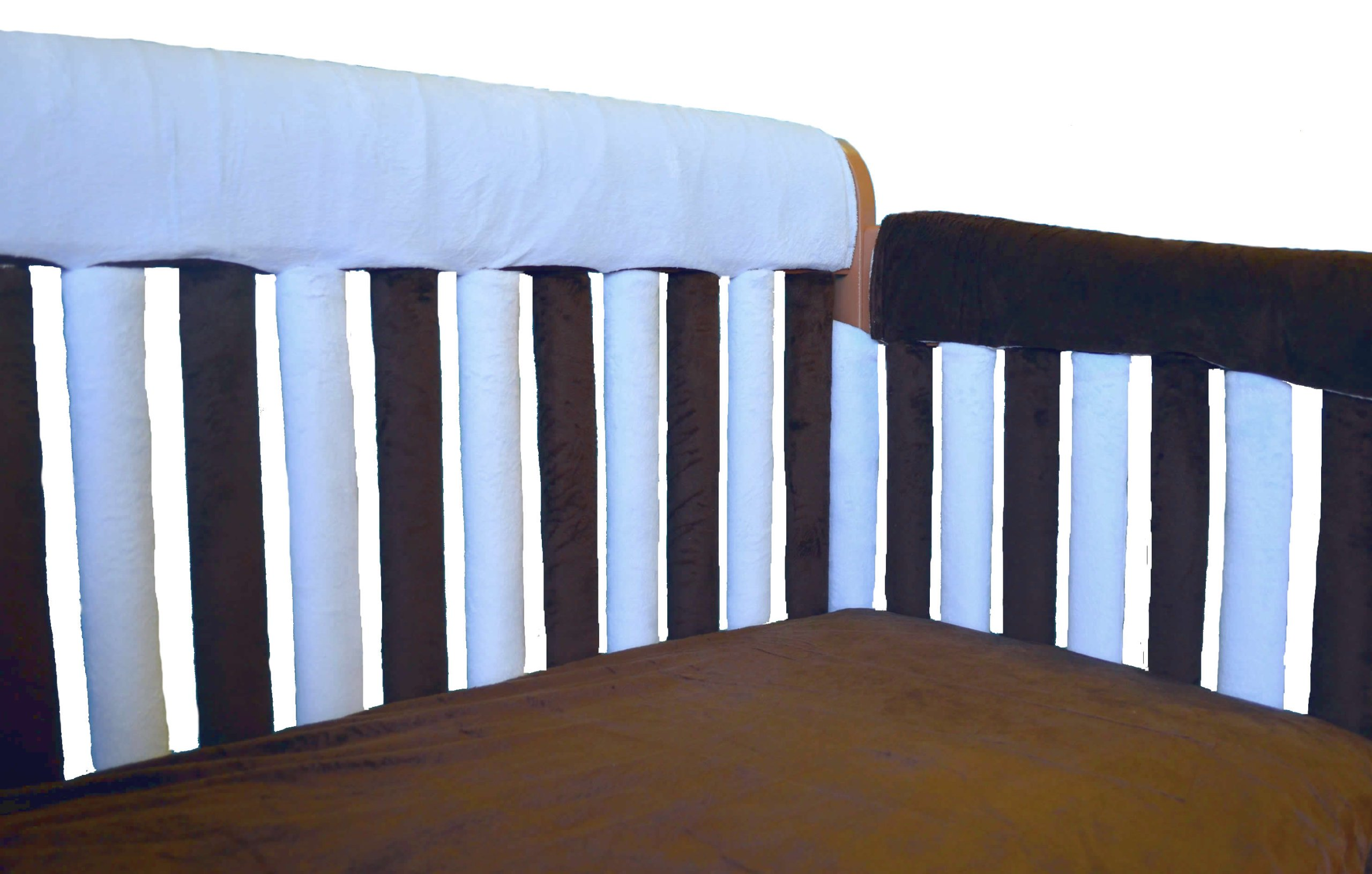 Amazon Com Pure Safety Vertical Crib Liners In Chocolate