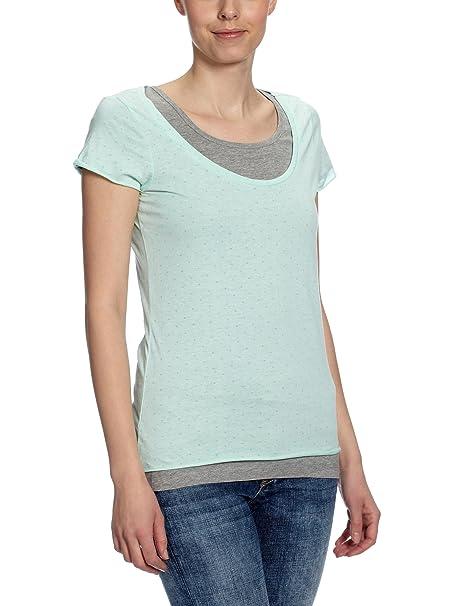 Vero Moda Gambler - Camiseta con lunares de manga corta con cuello redondo para mujer, color yucca, talla 38: Amazon.es: Ropa y accesorios