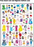 Girl Felt Dolls-Set of 4 with extra clothes - Kit