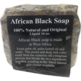 Black Soap Raw African Soap, 100% Organic Pure, 1 lb.
