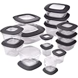 Rubbermaid Premier Food Storage Containers, 30-Piece Set, Gray
