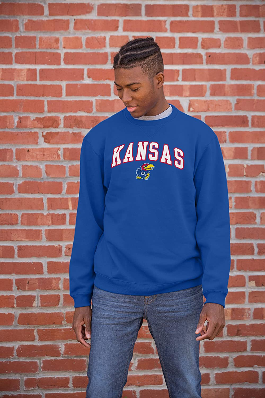 Top of the World Mens Fit Team Color Arch Premium Fabric Crewneck Sweatshirt