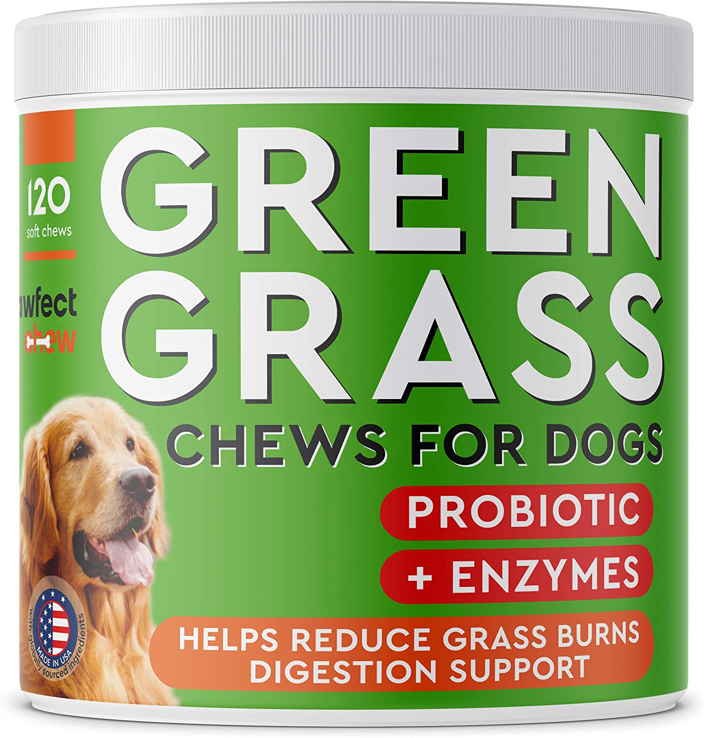 PAWFECTCHEW Dog Pee Grass Saver - Grass Treatment for Dog Urine - Dog Urine Neutralizer for Grass Burn Spots - Dog Pee Lawn Repair Treats with Probiotics - Made in USA