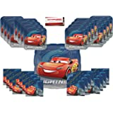 Cars 3 Birthday Party Supplies Bundle Pack for 16 Plus 17 Balloon