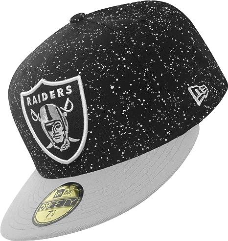 New Era - Gorra, diseño de los Oakland Raiders Negro Negro Talla:7 ...