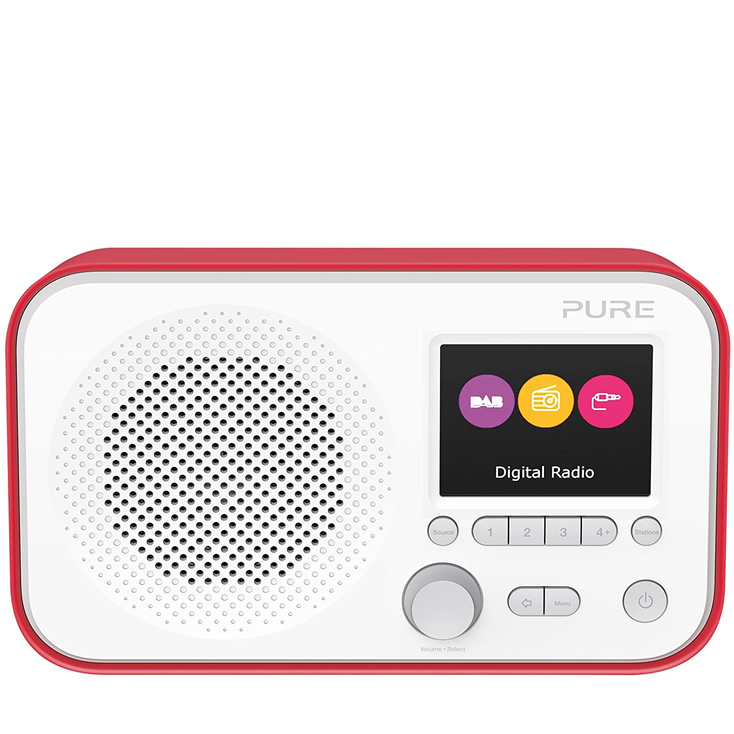 Headphones Output and 12 Station Presets AUX Input Wi-Fi Radio//Portable Radio Colour Screen Alarm Black Pure Elan IR3 Portable Internet Radio with Spotify Connect