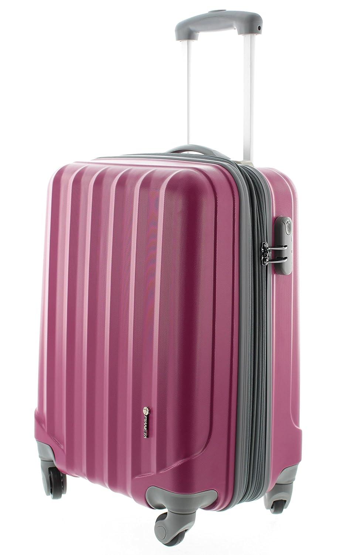 Pianeta / Ibiza Trolley valigia da viaggio bagaglio a mano valigia guscio rigido 100% ABS (berry rosso M (55cm)) SC14910