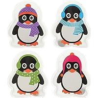 MIK Funshopping Lot de 4chauffe-mains en forme de pingouins colorés