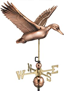 Good Directions Flying Duck Weathervane, Pure Copper
