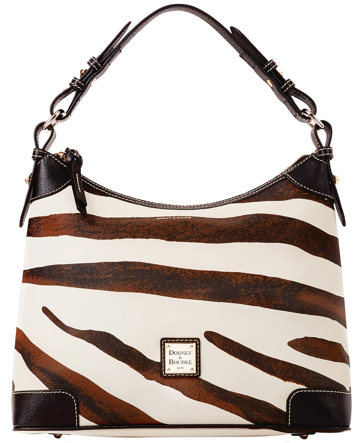 Dooney & Bourke Serengeti Medium Hobo (Zebra/Black)