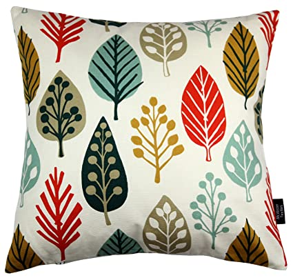 """Orange /& Green to Choose PILLOW CASE SCATTER CUSHION COVER 43cm 17/"""" Red"""