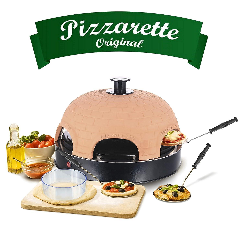 Emerio po-115984 Forno per pizza, terracotta Arancione, Nero