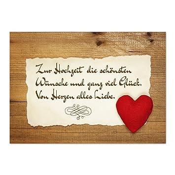 glückwünsche hochzeit karte Glückwunsch Karte zur Hochzeit mit Umschlag / Rustikale Liebe