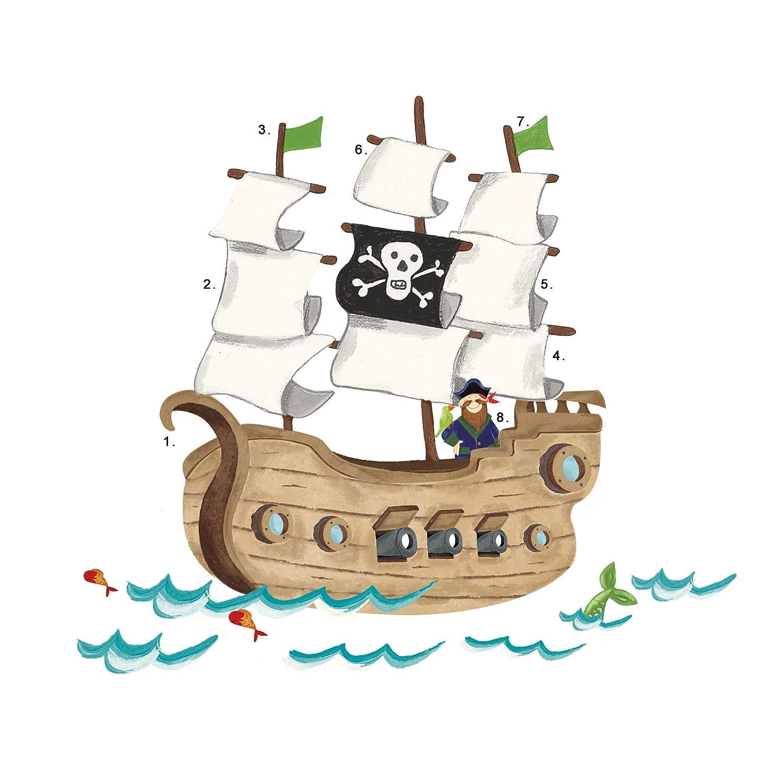 amazon com roommates rmk2042slm pirate ship peel and stick giant