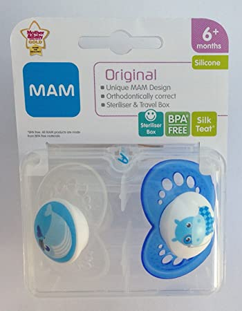 Amazon.com: MAM Original Chupete individual Pack 6 M + ...