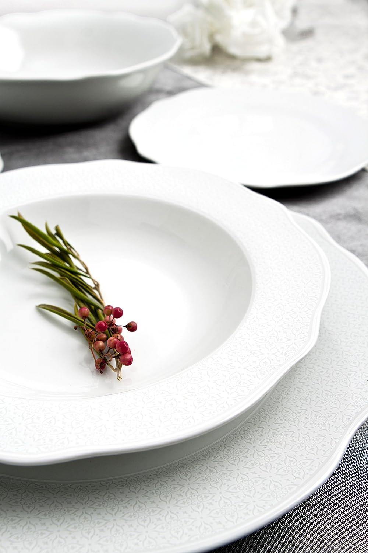 Bidasoa Vajilla 18 Piezas Porcelana Ottoman White, Blanco, 0 ...