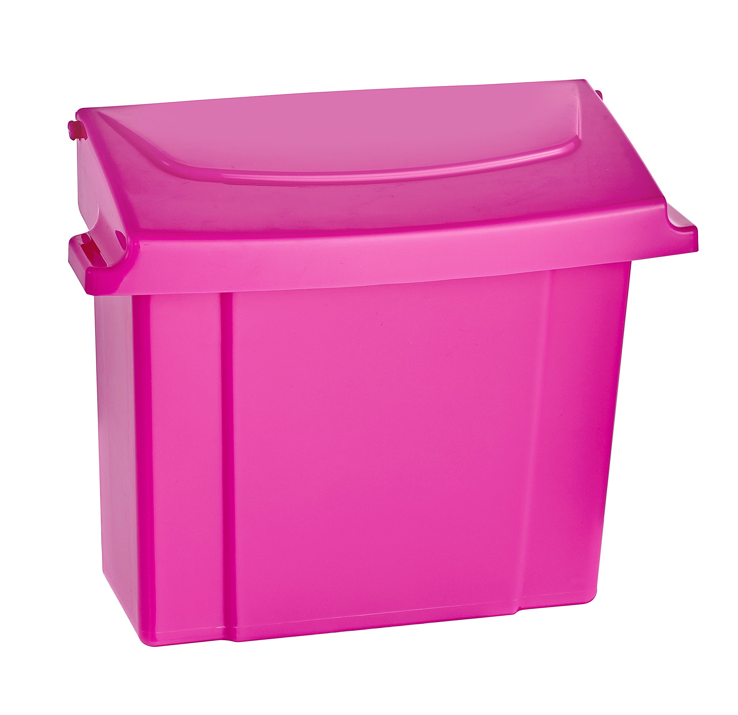 Alpine Sanitary Napkins Receptacle - Feminine Hygiene Products, Tampon & Waste Disposal Container - Durable ABS Plastic - Seals Tightly & Traps Odors -Easy Installation Hardware Included (Pink)