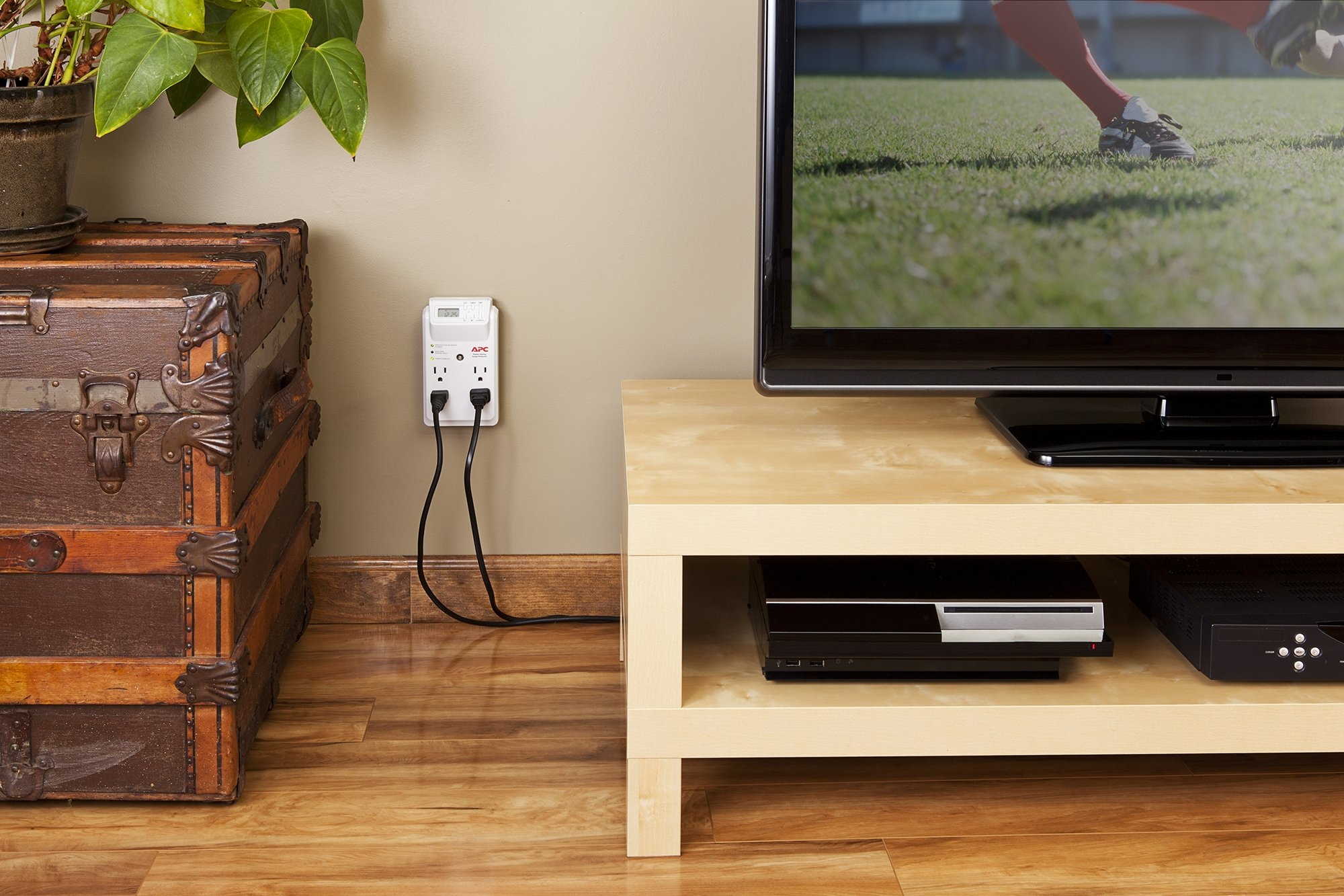 APC 4-Outlet Wall Surge Protector with Timer-Controlled Outlets, SurgeArrest Essential (P4GC)