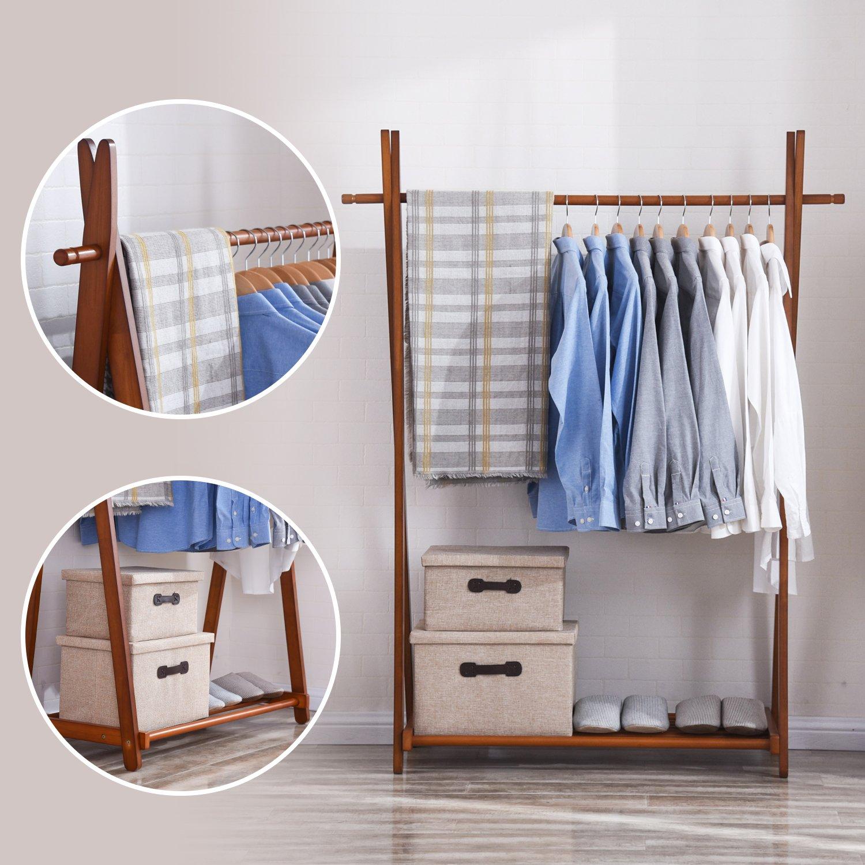storage metal itm frame free portable clothes details wardrobe standing organizer rack freestanding double