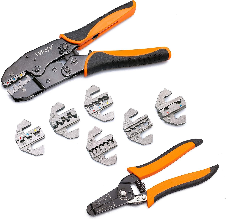 Crimpzange Aderendhülsen Zange 450-tlg Set Kabelschuhe Presszange Werkzeug A+