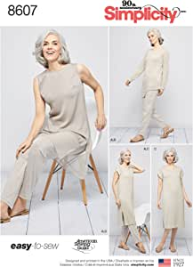 XXL XXS Dress /& Tunic  Sizes Simplicity 8607 Misses Slim Pull on Pants